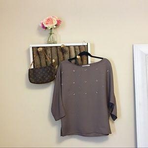 Loft sequin loose fitting blouse